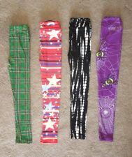 NEW LuLaRoe L/XL Kids Leggings LOT ~ Halloween Black & White Tie Dye Plaid Star