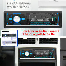 Dual USB Single DIN Bluetooth AUX LCD Screen Car Stereo Radio Support RDS DAB+