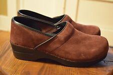 Sanita Professional Clogs Burgundy Leather Comfort Shoes Women's 40 / 9-9.5