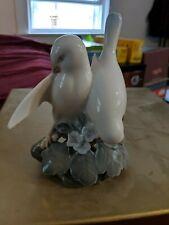 Vintage Royal Copenhagen Lovebirds / White Doves Birds #402, Mint