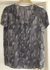GAP ladies silk blend short sleeve blouse size M