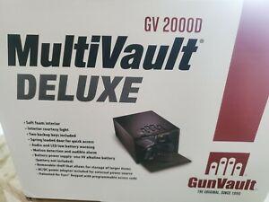 Gun Vault Multi Vault 2000D Deluxe Two Shelves 16 guage steel construction. NEW!