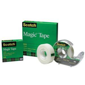 Scotch 810 19mmx33m Magic Tape With Dispenser