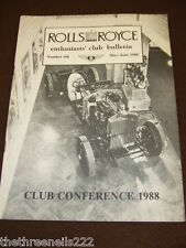 ROLLS ROYCE ENTHUSIASTS BULLETIN #168 - MAY 1988 CLUB CONFERENCE
