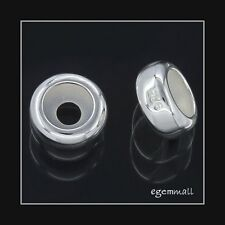 10 Sterling Silver Rubber European Bracelet Stopper Beads #51832