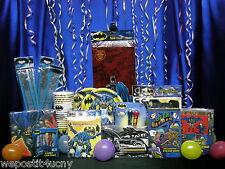 Batman Party Set # 16 F Tablecloth Plates Napkins Cups Loot Pieces Batman Favors