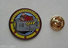 Locale Sonic Hedgehog professor Dr. Robotnik'S 1992 NUOVO Smalto Metallo pin badge pin