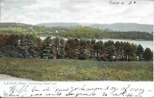 Overlooking Laurel Lake, Lenox MA Postcard used 1906