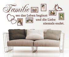 Wandtattoo Spruch Familie Leben Liebe Bilderrahmen Foto Wandsticker Aufkleber 2