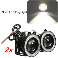 "12V 2PCS 3"" LED Fog Light Round Amber Angel Eye Halo For Any Cars SUV Or Trucks"