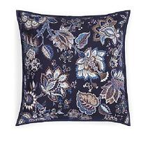 1872 Bloomingdales Florenza Floral 400Tc Pima Cotton Euro Pillow Sham Navy $115