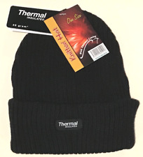 Mens black thermal hats-thermal hat-ladies thermal hats-insulated hats-black hat