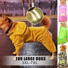 Pet Dog Clothes Waterproof Raincoat Outdoor Coat Hooded Jacket For Large Dog