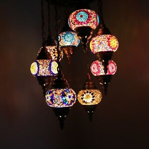 Mosaik Lampe Deckenlampe Orientalische Lampe Türkei Mosaik 8 Large Lampen