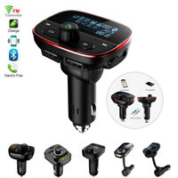 Bluetooth Dual USB Fast Car Charger Kit FM Transmitter Radio Adapter MP3 Player