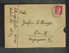 1943 Germany Dachau Concentration Camp Cover w letter Gustav Wittmayer to Vienna