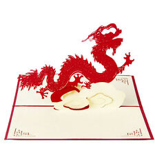 3D Pop Up Greeting Cards Dragon Birthday Thank You Children Gifts Christmas