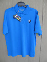 NEW MENS UNDER ARMOUR POLO GOLF SHIRT SIZE LARGE BLUE HILLS COUNTRY CLUB