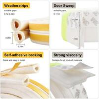 Self Adhesive Weatherstrip D Shape House Door Seal Weather Strip Home Y
