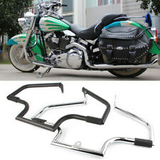 Engine Guard For Harley Davidson Softail Heritage Classic 2000-2017 Black/Silver