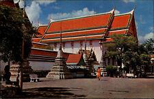 Bangkok Thailand AK frankiert 1971 Inside Wat Pho Partie buddhistischen Tempel