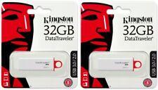 2 Pack of Kingston 32GB DataTraveler DTIG4 32G USB 3.1 Flash Drive DTIG4/32GB