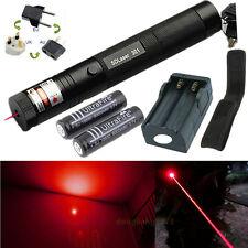10 Miles Red 1mw 650nm Laser Pointer Pen Light 301 Beam Focus + 2x 18650 Battery