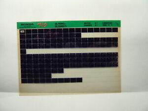Honda  GL1500 CV CT Teile Katalog auf Microfich  Liste Fich Parts Catalogue 1996