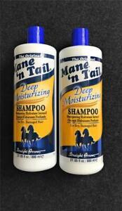 New Mane 'N Tail Deep Moisturizing Shampoo For Dry Damaged Hair, 800ml, Lot of 2