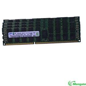 128GB (8x16GB)PC3-10600R DDR3 4Rx4 ECC Reg RDIMM Server Memory RAM for Dell R510
