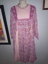 Vintage Indian Block Print Kaftan Dress M by Ram's
