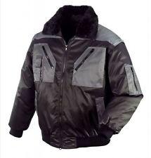 Pilotenjacke Arbeitsjacke 4 in 1 Jacke TEXXOR schwarz/grau, Größe L