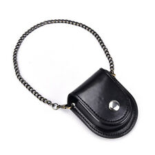 PU leather pocket watch holder storage case coin purse pouch bag with chain XC