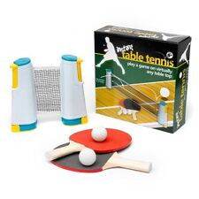 Instant Table Tennis Set Travel Game Kids Toy Extendable Net Bats & Balls