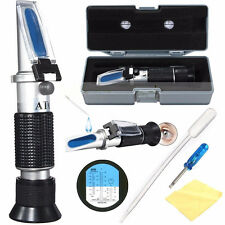 ATC Glycol Refractometer Car Antifreeze Battery Acid Engine Coolant Tester FO