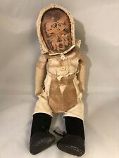 Antique WWII  Doll Made In Holland With 4 Outfits