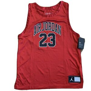Air Jordan Michael Jordan Red Jumpman Jersey Tank, Size XL NWT