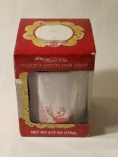 Stockmeyer Musical Tin - New in Box - Red & White Christmas Reindeer and Pines