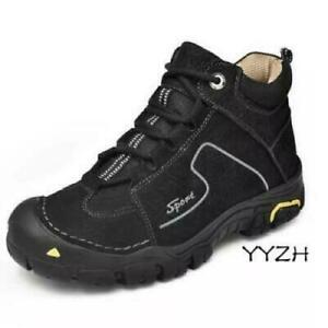 Men's Outdoor Climbing Ankle Boots Hiking Non Slip Work Shoes Waterproof Lace Up
