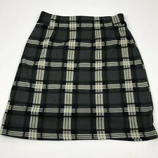 41 Hawthrone Plaid A-Line Skirt Womens Size Small Gray Career Office Separate