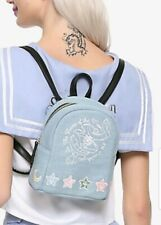 Sailor Moon Mini Backpack In The Name Of The Moon Denim Embroidered NEW