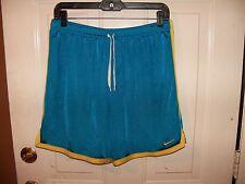 Men's Nike Dri Fit Teal/Yellow Running Shorts Adult Size M RN#56323 CA#05553 EUC
