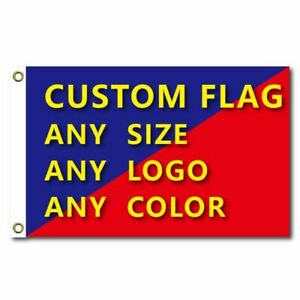Custom Flag Customized Full Color Flags Banners Print Your Own Design Grommets