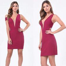 BEBE DEEP V OFF SHOULDER DRESS NWT NEW $159 XXSMALL XXS 0