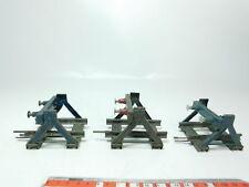 bh212-0, 5 #3x MÄRKLIN escala 0 Metal metall-prellbock CON TOPE DE RESORTE