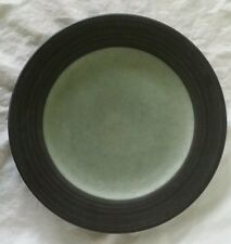 "Epoch Zoom Green 8 1/8"" Salad Plate Green Center w/ Charcoal Rim"