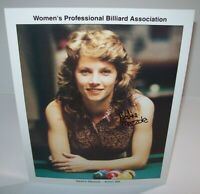 Nadine Mazzola Women's Professional Billiard Signed Autograph Photo Pool Vintage