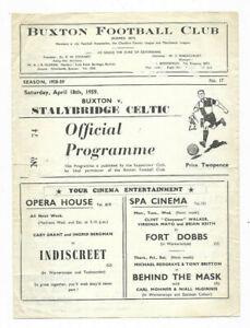 1958/59 Cheshire County League - BUXTON v. STALYBRIDGE CELTIC