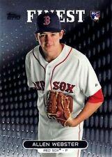 2013 Finest #15 Allen Webster RC Boston Red Sox