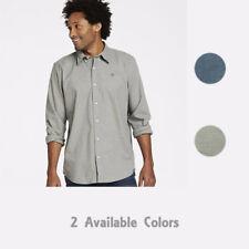 Timberland Men's Lightweight Solid Organic Cotton Twill Button Down Shirt A1Q9H